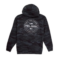 Hoody Built For Fishing Black Camo